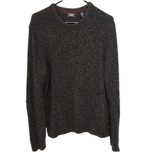 IZOD Cotton Knit  Sweater black/grey M